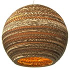Graypants Lampada a sospensione Luna 18 cartone, marrone, Ø45x40cm