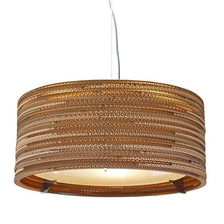 Graypants Hængende lampe Drum 18 pap, brun, Ø45x21cm