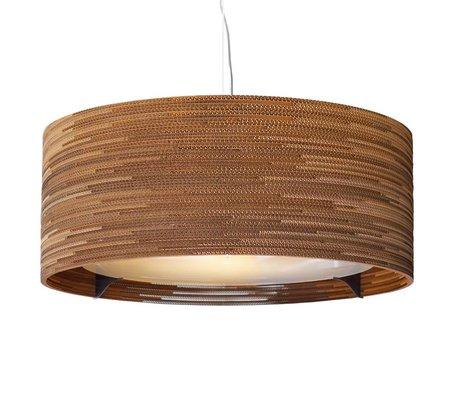 Graypants Lámpara colgante Drum 36 de cartón, marrón, Ø92x35cm