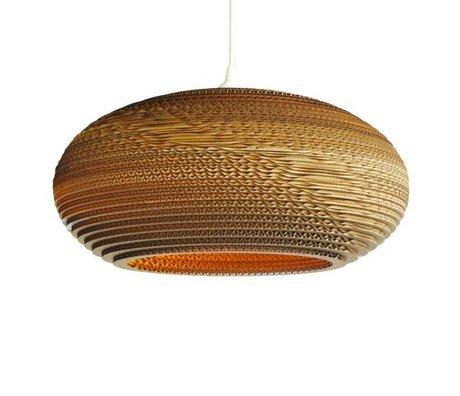 Graypants Lámpara colgante de disco 20 de cartón, marrón, Ø50x23cm