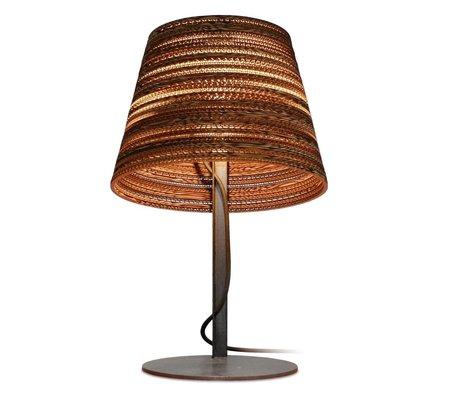 Graypants Tischlampe Tilt Table aus Karton, braun, Ø34x24xcm