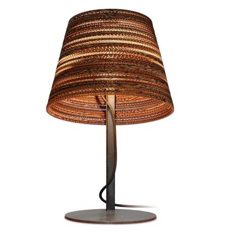 Graypants Incline mesa Lámpara de mesa hecha de cartón, marrón, Ø34x24xcm
