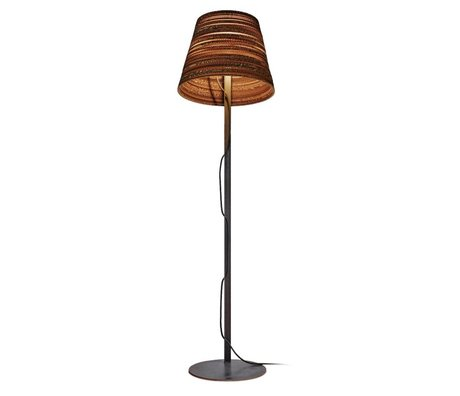 Graypants Floor lamp Tilt Floor cardboard, brown, Ø46x35xcm
