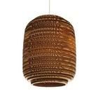 Graypants Hængende lampe Ausi 8 af pap, brun, Ø19x24cm