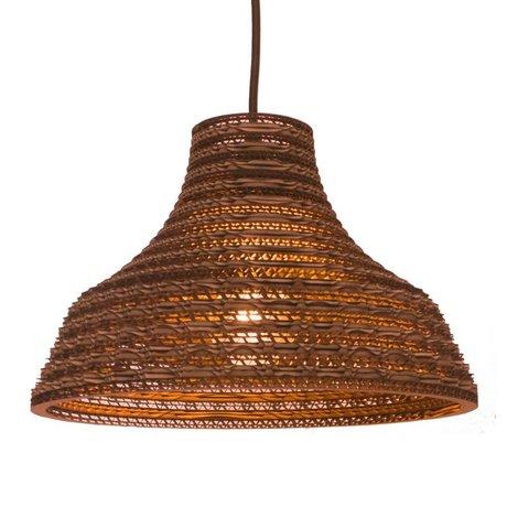 Graypants Hængende lampe Work 12 pap, brun, Ø31x20cm