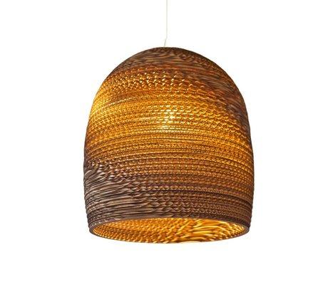 Graypants Lámpara colgante de Bell 10 de cartón, marrón, Ø27x28cm