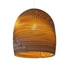 Graypants Hængende lampe Bell 16 pap, brun, Ø38x40cm