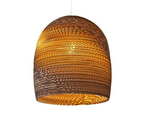 Graypants Lámpara colgante de Bell 16 de cartón, marrón, Ø38x40cm