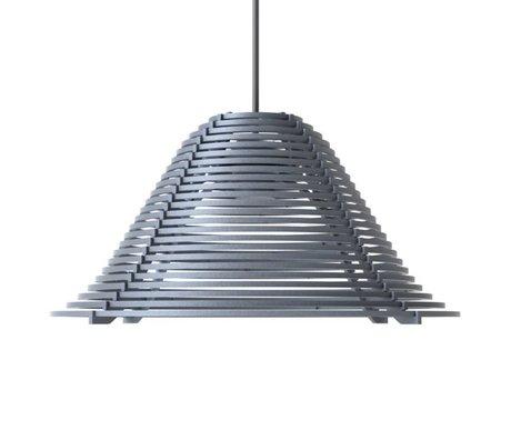 Graypants Pendelleuchte Vela aus Aluminium, grau, Ø44x25cm