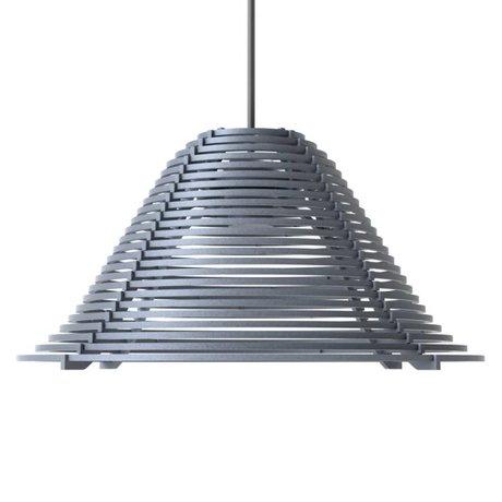 Graypants Hängelampe Vela aus Aluminium, grau, Ø44x25cm