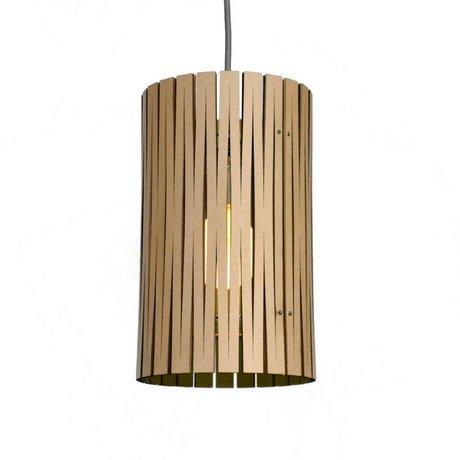 Graypants Hanging lamp Selwyn cardboard, black, Ø18x32cm