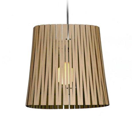 Graypants Ripley hanging lamp made of cardboard, black, Ø29x31cm