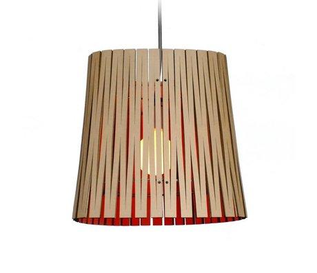 Graypants Ripley hanging lamp made of cardboard, orange, Ø29x31cm
