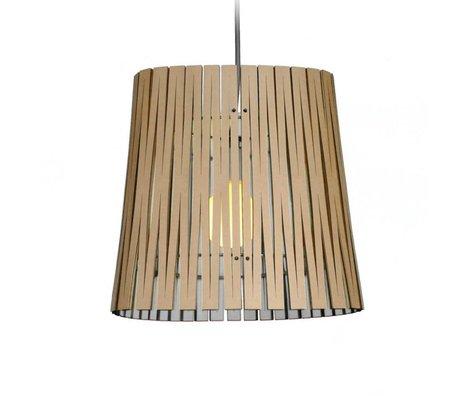 Graypants Ripley hanging lamp made of cardboard, white, Ø29x31cm