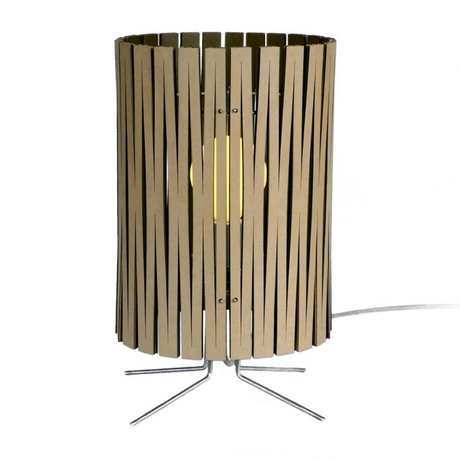 Graypants Lampada da tavolo Palmer di cartone, nero, Ø21x39cm