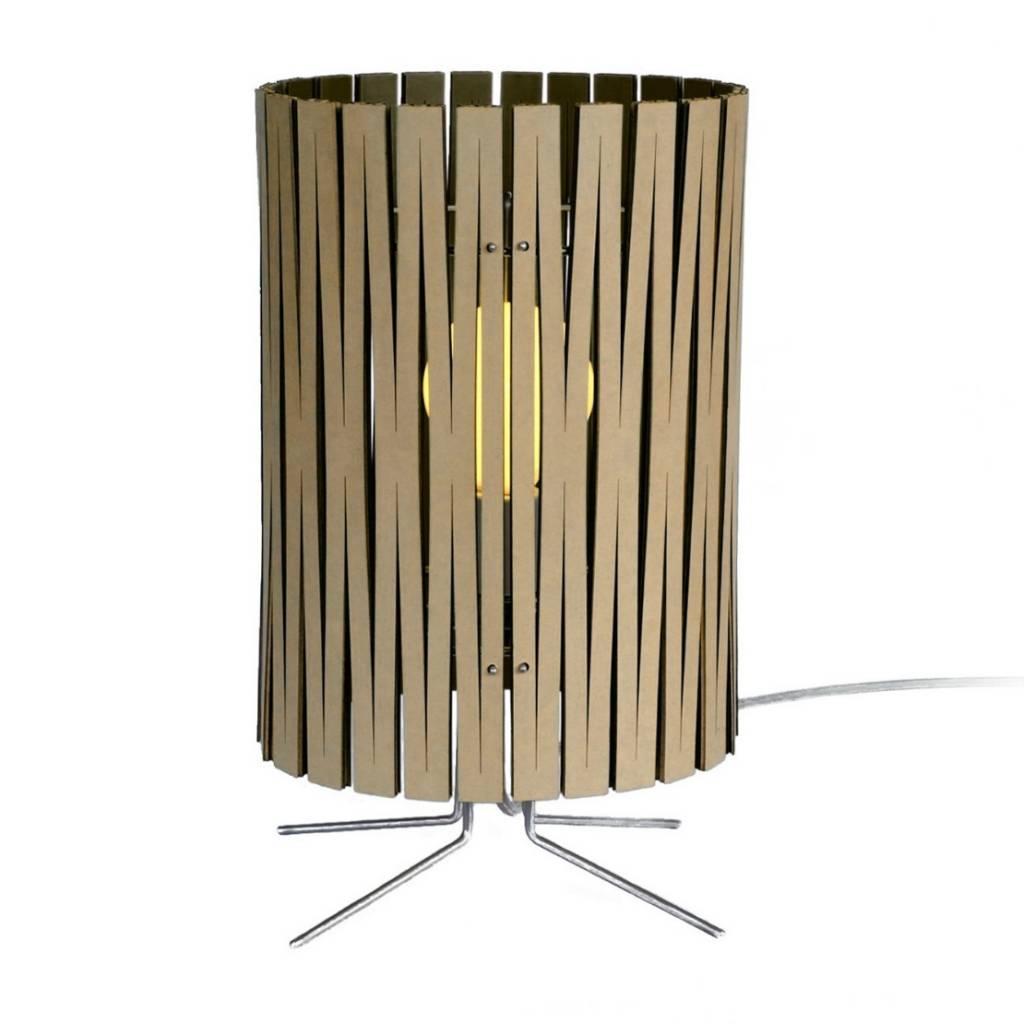 Graypants Lampada Da Tavolo Palmer Di Cartone Nero O21x39cm Lefliving Com