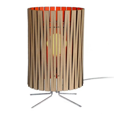 Graypants Palmer table lamp made of cardboard, orange, Ø21x39cm
