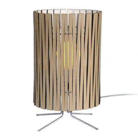 Graypants Palmer bordlampe lavet af pap, hvid, Ø21x39cm