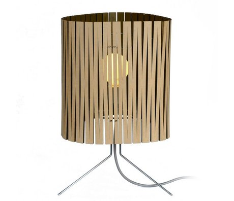Graypants Leland table lamp made of cardboard, black, Ø26x47cm