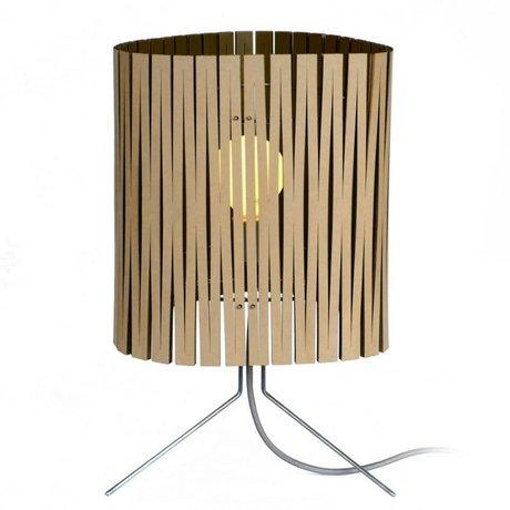 Graypants Lampada da tavolo Leland di cartone, nero, Ø26x47cm