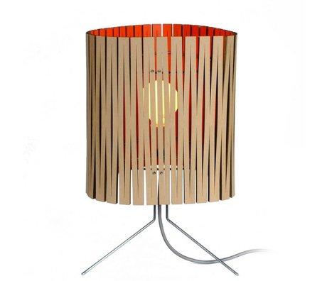 Graypants Lampada da tavolo Leland di cartone, arancio, Ø26x47cm
