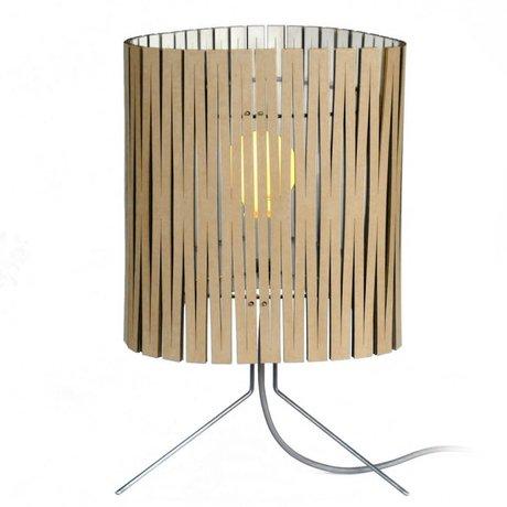 Graypants Leland bordlampe lavet af pap, hvid, Ø26x47cm