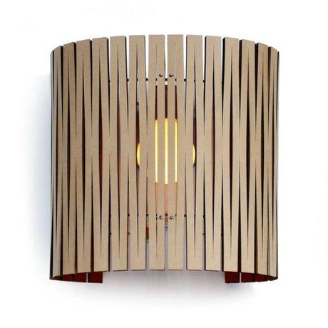 Graypants Lampada da parete Rita cartone, nero, Ø30x32cm