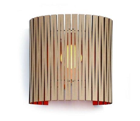 Graypants Wall lamp Rita cardboard, orange, Ø30x32cm