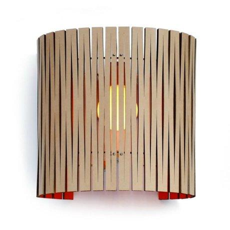 Graypants Lámpara de pared Rita cartón, naranja, Ø30x32cm