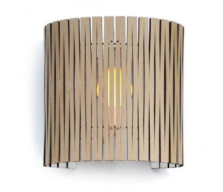 Graypants Wandlampe Rita aus Karton, weiß, Ø30x32cm