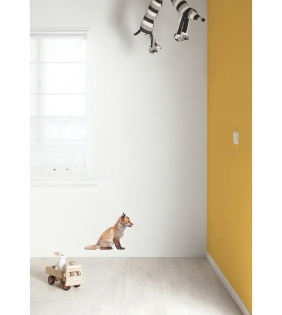 Kek Amsterdam Wandtattoo Baby Fox, braun, 34x26cm