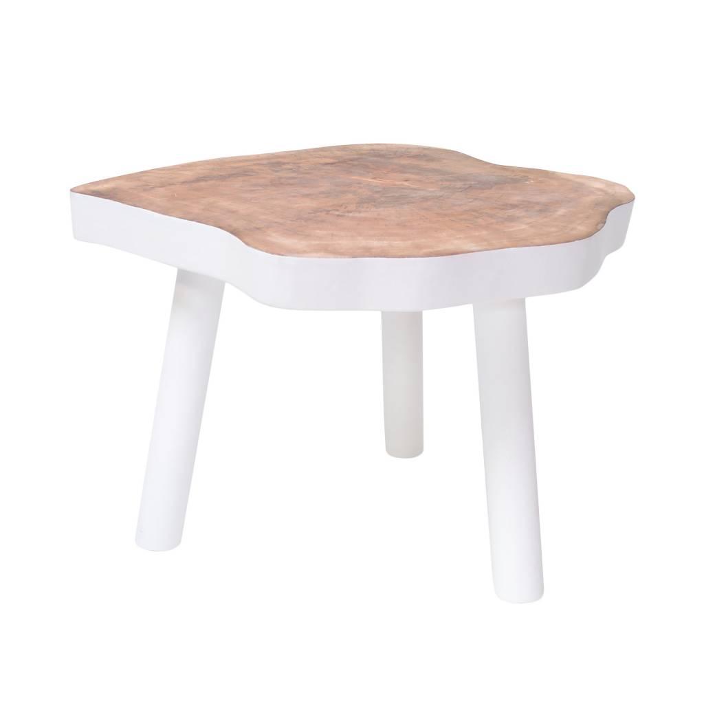 Hk Living Table Basse L Arbre Bois Blanc 65x65x46cm