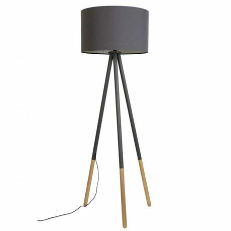 Zuiver Floorlamp Highland metallo / legno Ø53xH155cm grigio scuro