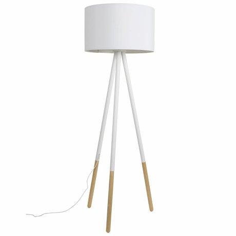 Zuiver Standerlampe Highland metal / træ hvid Ø53xH155cm