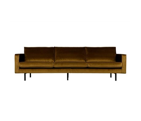 BePureHome Rodeo 3 seater velvet honey yellow