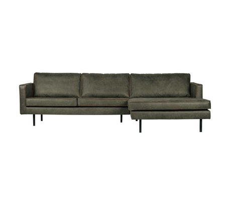 BePureHome Rodeo chaise longue rechts army