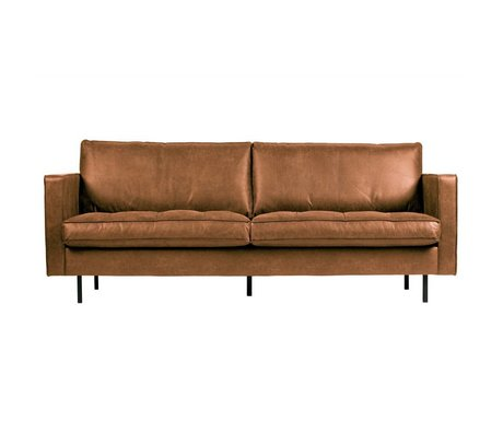 BePureHome Rodeo classic sofa 2.5-seater cognac