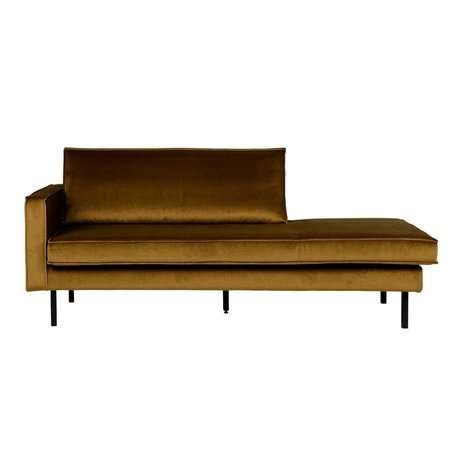 BePureHome Rodeo daybed left velvet honiggelb