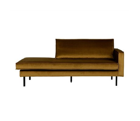 BePureHome Daybed Rodeo giallo velluto giallo miele