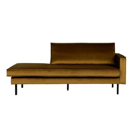 BePureHome Rodeo daybed right velvet honiggelb