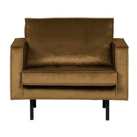 BePureHome Rodeo fauteuil velvet honiggelb