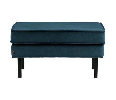 BePureHome Rodeo stool on legs velvet blue