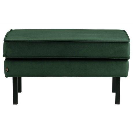 BePureHome Rodeo stool on legs velvet green forest