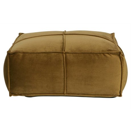 BePureHome Honey puf velvet honiggelb 60x60