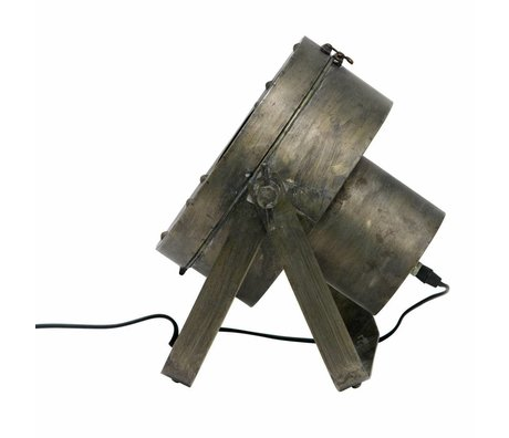 BePureHome Lampe de table de théâtre en métal