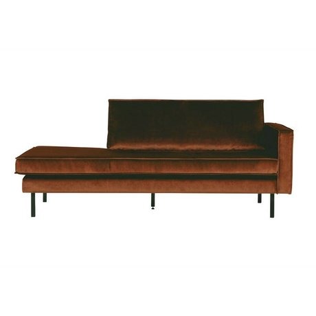 BePureHome Rodeo daybed right velvet orange
