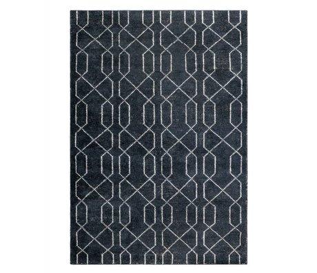 Zuiver Tapis Mars noir blanc textile 170x240cm