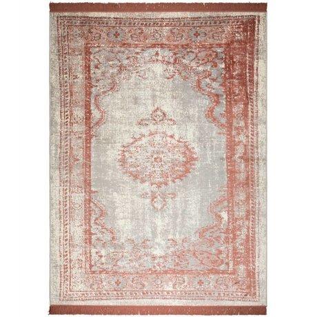 Zuiver Teppich Marvel Blush rotes Textil 200x300cm