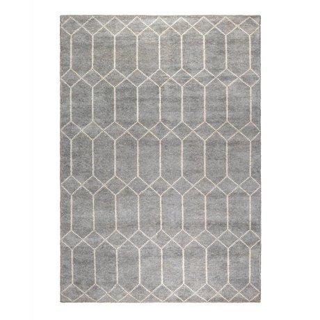 Zuiver Alfombra Venus gris blanco textil 170x240cm.