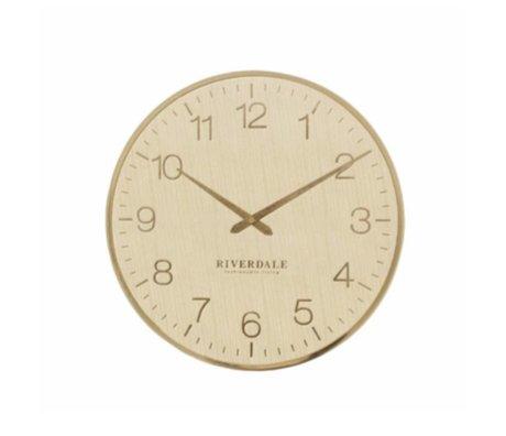 Riverdale Horloge murale Ritz Ø40cm en métal doré